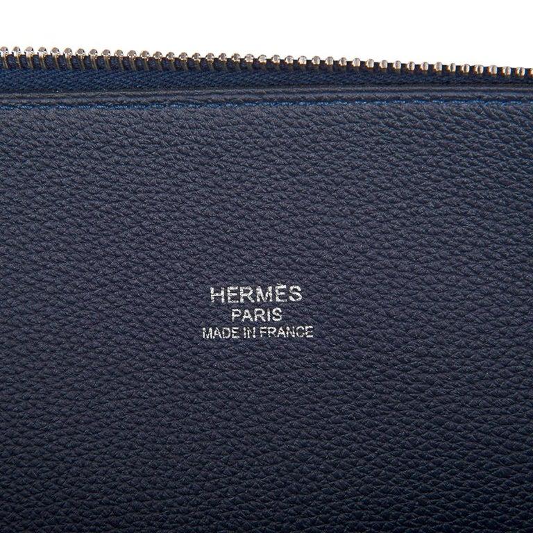 Hermes Bolide Runway Shark Monster Bag Unisex Blue Indigo Limited Edition For Sale 6