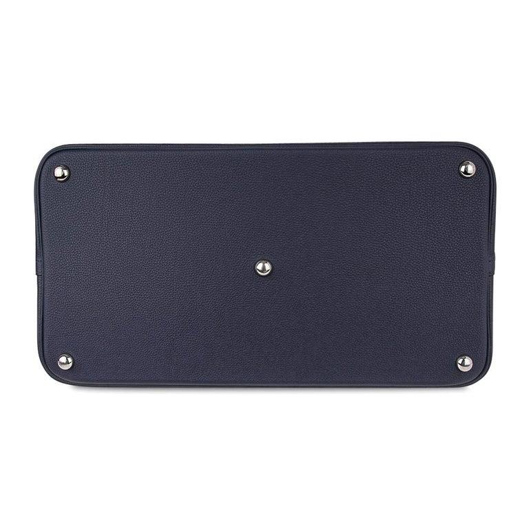 Hermes Bolide Runway Shark Monster Bag Unisex Blue Indigo Limited Edition For Sale 7