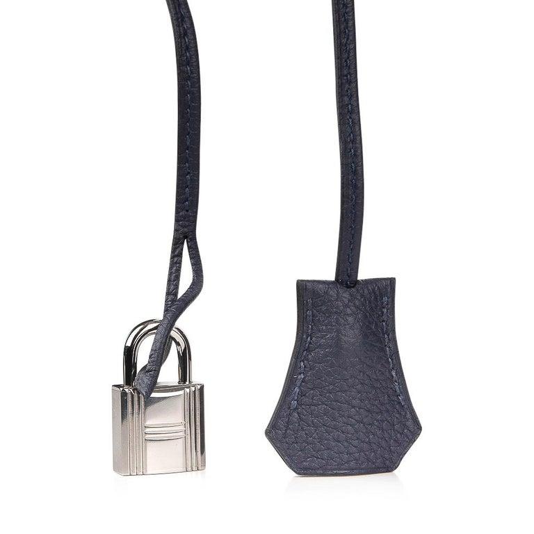 Hermes Bolide Runway Shark Monster Bag Unisex Blue Indigo Limited Edition For Sale 4