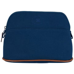 Hermes Bolide Travel Case / Pouch Mini Model Blue de Prusse New