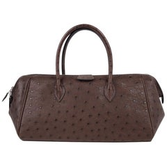 Hermes Bombay 27 Bag Marron Fonce Ostrich Small Model