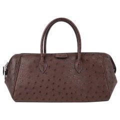Hermes Bombay Bag Marron Fonce Ostrich 27