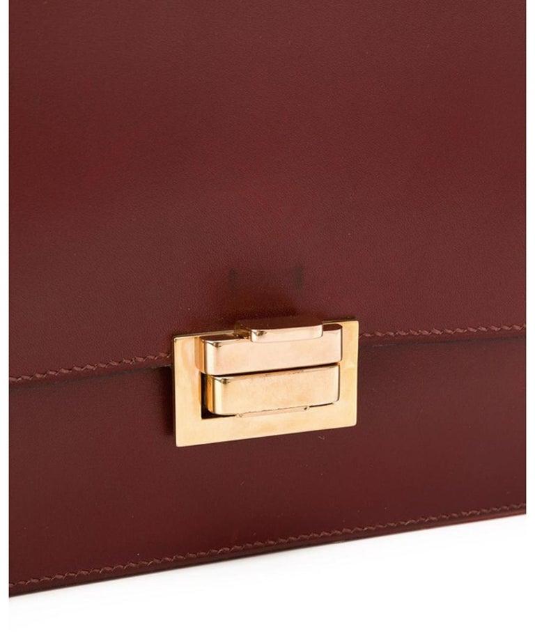 Brown Hermes Bordeaux Shoulder Bag For Sale