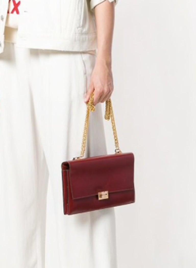 Hermes Bordeaux Shoulder Bag For Sale 1