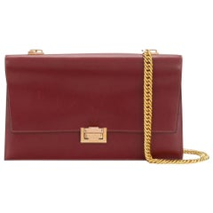 Hermes Bordeaux Boxcalf Leather Shoulder Bag