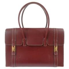Hermès bordeaux shoulder bag gold tone hardware