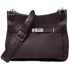 Hermes Bordeaux Togo Leather Palladium Hardware Jypsiere 37 Bag