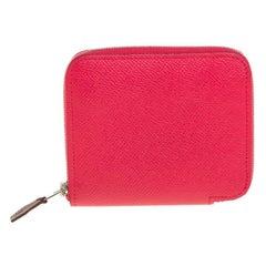 Hermes Bougainvillea Epsom Calfskin Silk'In Compact Wallet