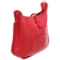 Hermes Bouganvillea Clemence Leather Evelyne III PM Bag
