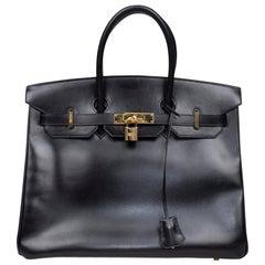 Hermés Box Birkin 35 Bag