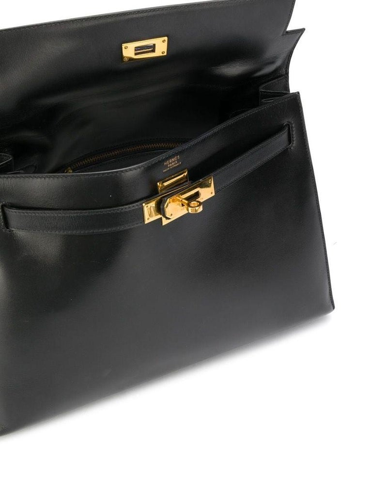 Hermès Box Leather 32cm Kelly Sellier Bag In Good Condition For Sale In London, GB