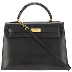 Hermès Box Leather 32cm Kelly Sellier Bag