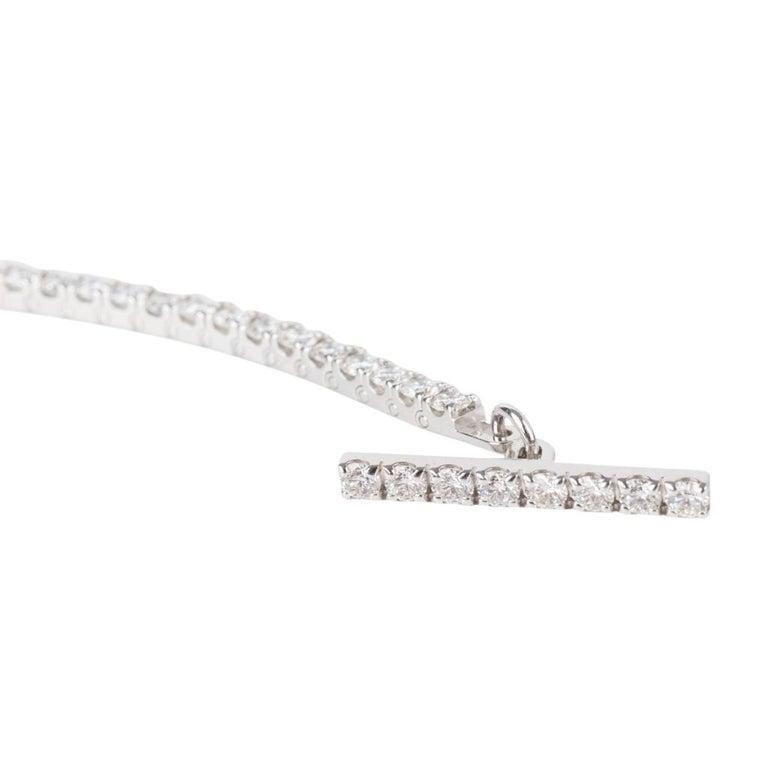 Hermès Bracelet Finesse Diamond Chaine d'Ancre Closure White Gold In New Condition For Sale In Miami, FL