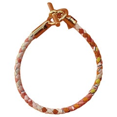 Hermès Bracelet Glenan Silk Gold Plated Hdw Limited Summer Edition Sold Out T2