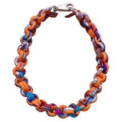 Hermès Braided Silk Necklace Petit H