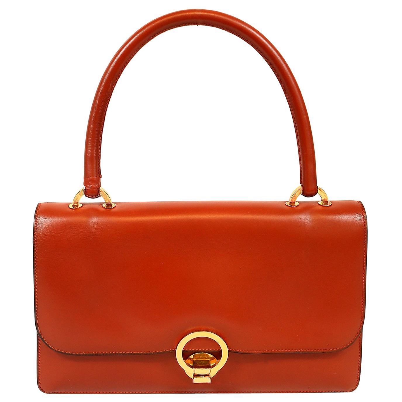 Hermès Brique Box Calf Vintage Handbag