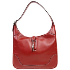 Hermès Brique Red Leather 31 cm Trim Bag