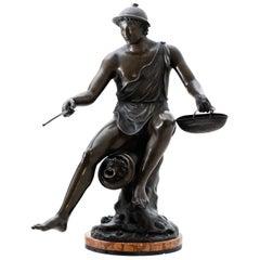 Hermes Bronze, Sig, Sabatino, Italy, 1882