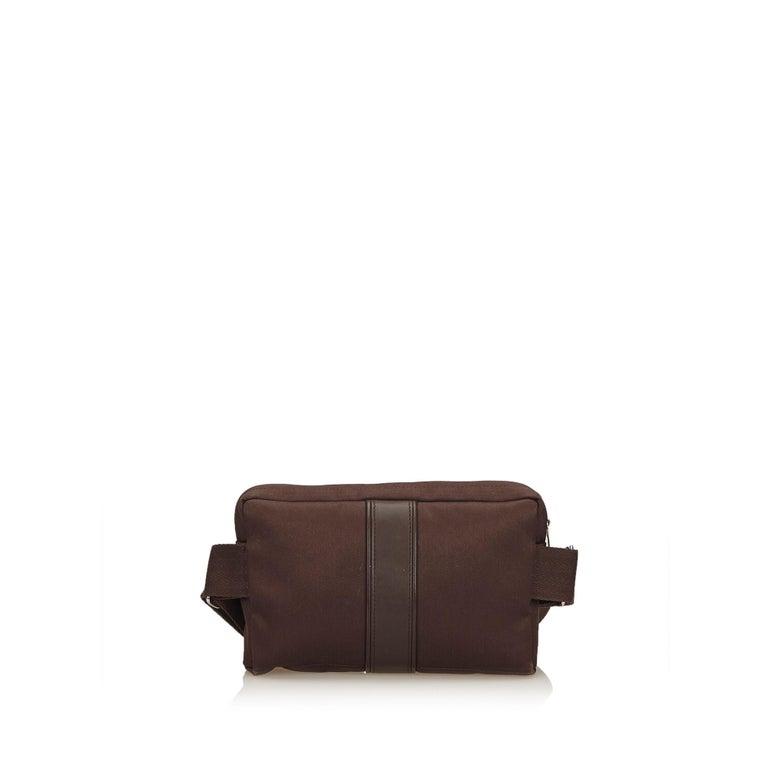 f88de3746161 Black Hermes Brown Acapulco Belt Bag For Sale