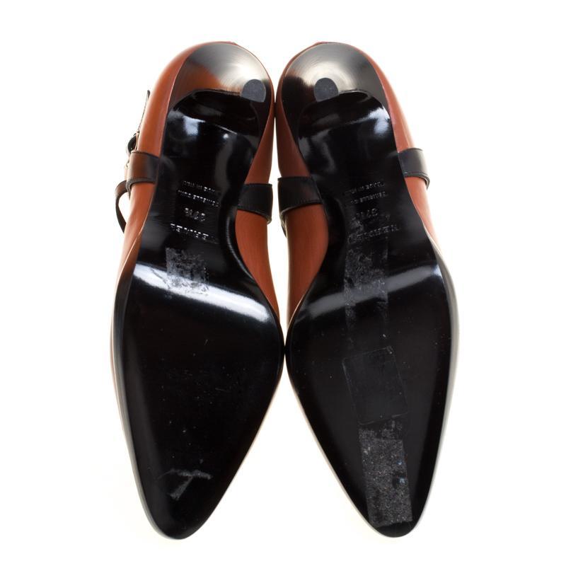 Hermes braunschwarz Leder Cross Strap Spitzen Zehen Knöchel Stiefel Größe 37,5