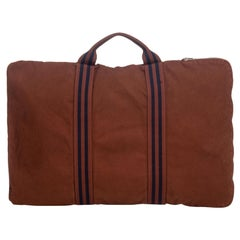Hermes Brown Canvas Fabric Fourre Tout Briefcase France