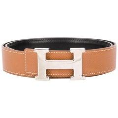Hermès Brown H Buckle Belt