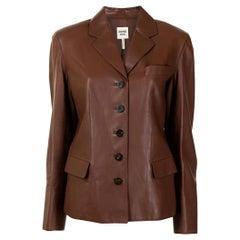 Hermès Brown Lambskin Blazer