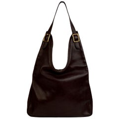 Hermes Brown Leather Sac Massai PM Hobo Shoulder Bag