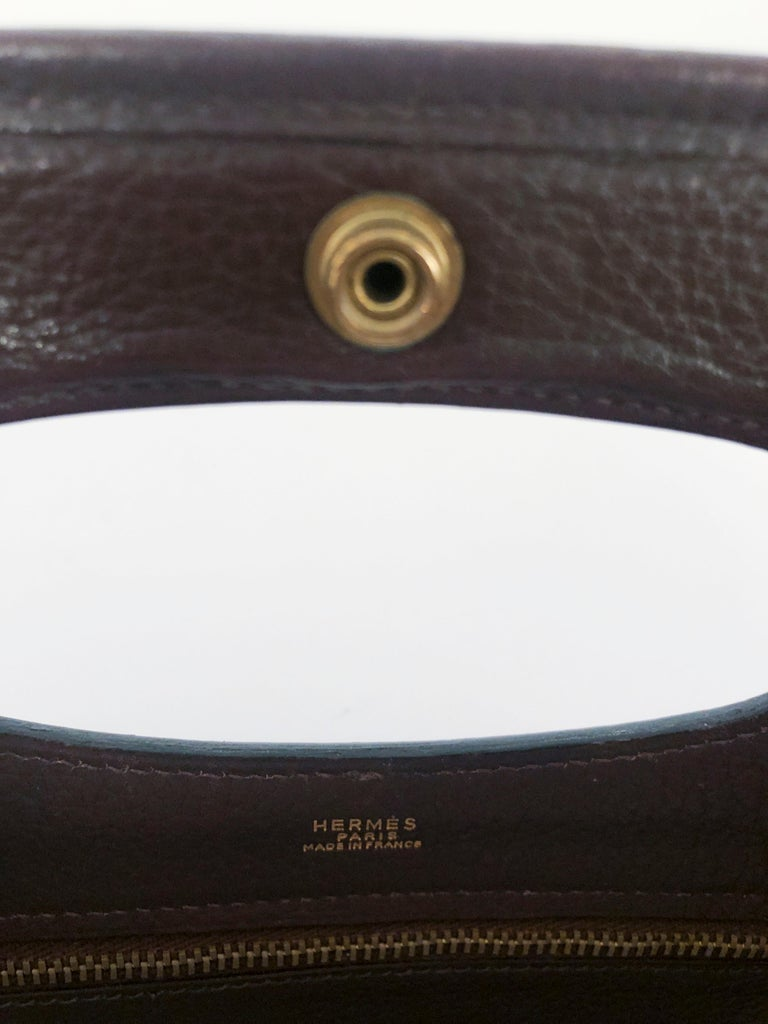 Women's or Men's Hermès Brown Leather Tote For Sale