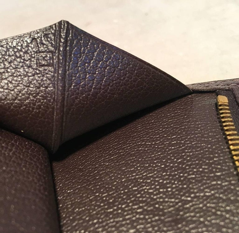 Hermes Brown Lizard Leather H Portfolio Wallet For Sale 2