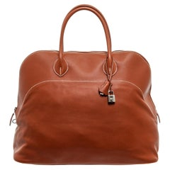 Hermes Brown Sikkim Leather Bolide Relax 45 Bag