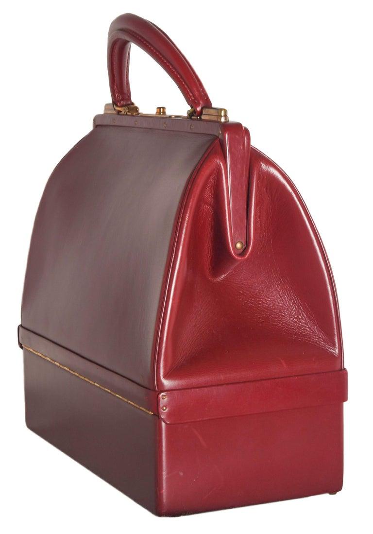 Women's Hermes Burgundy Jewelry Sac Mallette Jewelry Travel Bag   For Sale