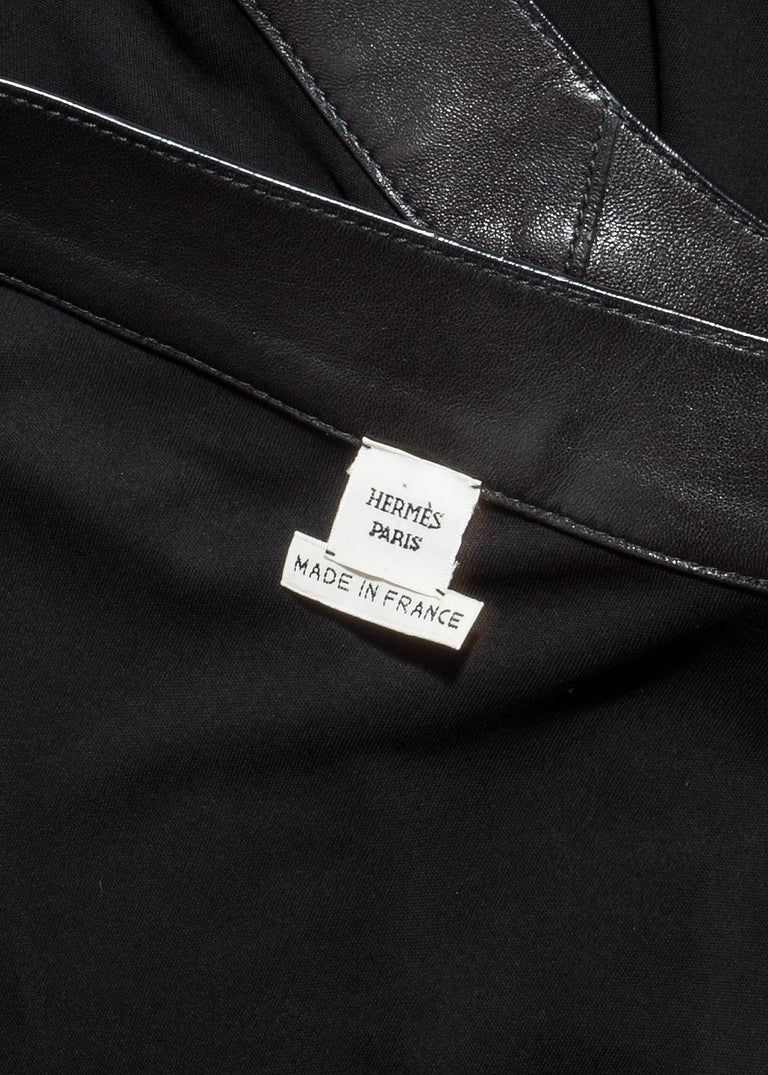 Hermes by Jean Paul Gaultier silk and leather Collier de chien dress, fw 2009 For Sale 3
