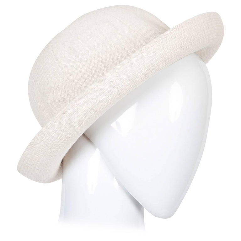 Women's or Men's Hermes by Motsch Paris Summer Ivory Canvas Bucket Hat  For Sale