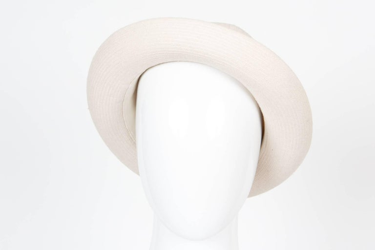 Hermes by Motsch Paris Summer Ivory Canvas Bucket Hat  For Sale 1