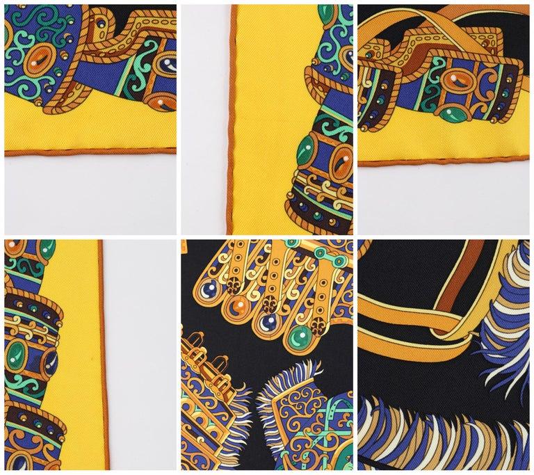"""HERMES c. 2013 Pierre Marie """"Sous l'Egide De Mars"""" Silk Multicolor Print Scarf For Sale 3"""