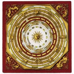 "HERMES c.1963 Francoise Faconnet ""Dies Et Hore"" Astrology Zodiac Silk Scarf"