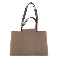 Hermes Cabas Elan Toile and Leather 39