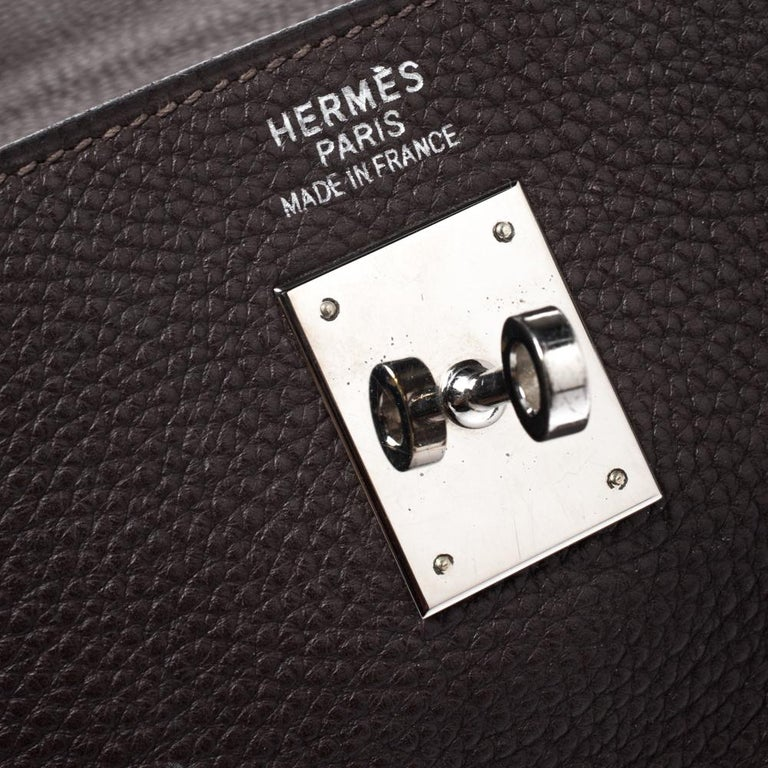 Hermes Cacao Togo Leather Palladium Hardware Kelly Sellier 35 Bag 5