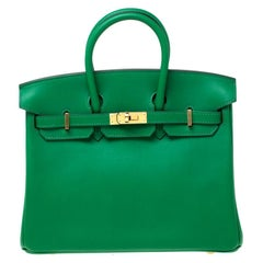 Hermes Cactus Swift Leather Gold Hardware Birkin 25 Bag