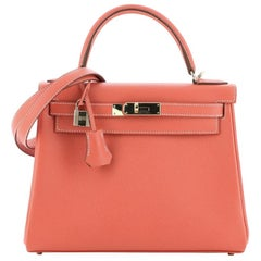 Hermes Candy Kelly Handbag Epsom 28