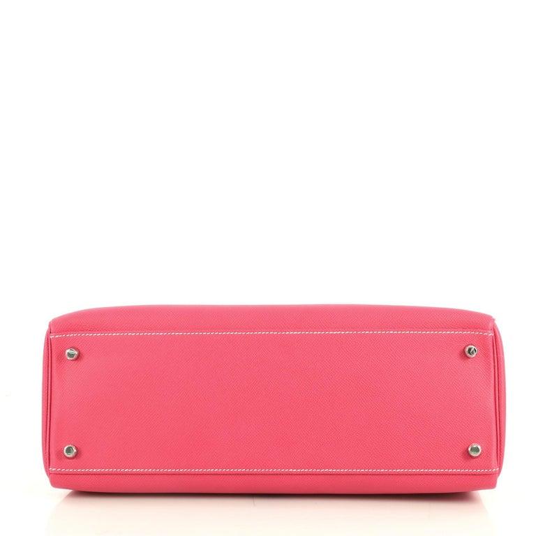 Hermes Candy Kelly Handbag Epsom 35 In Good Condition In New York, NY