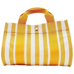 Hermès Cannes MM striped tote bag beach bag