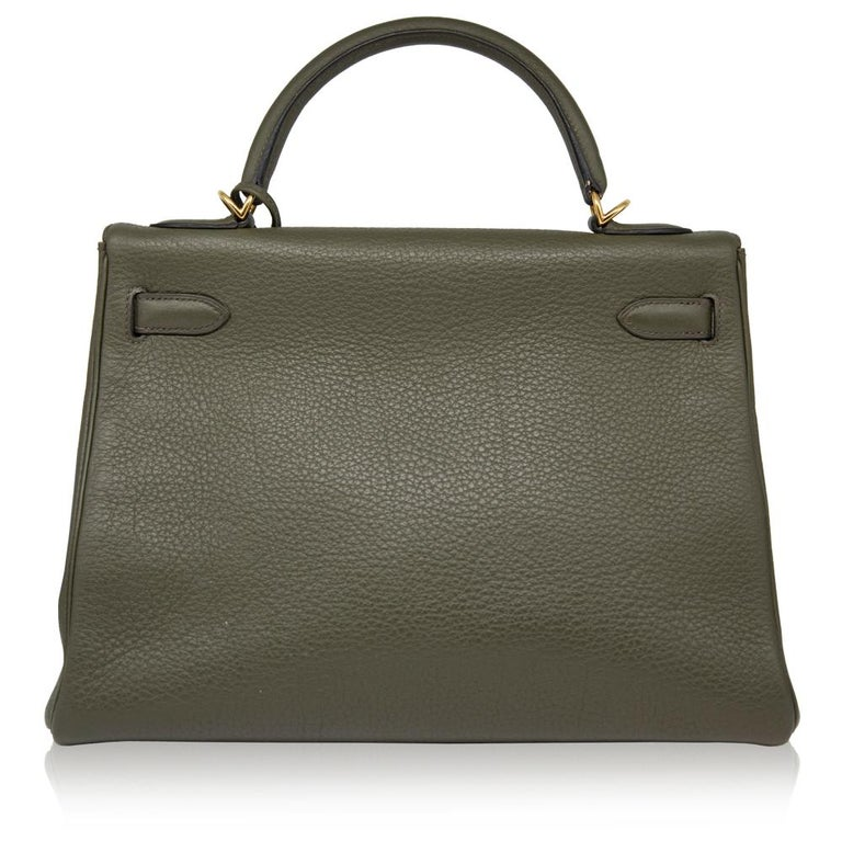Women's Hermes Canopee Togo Leather 32cm Kelly Bag For Sale