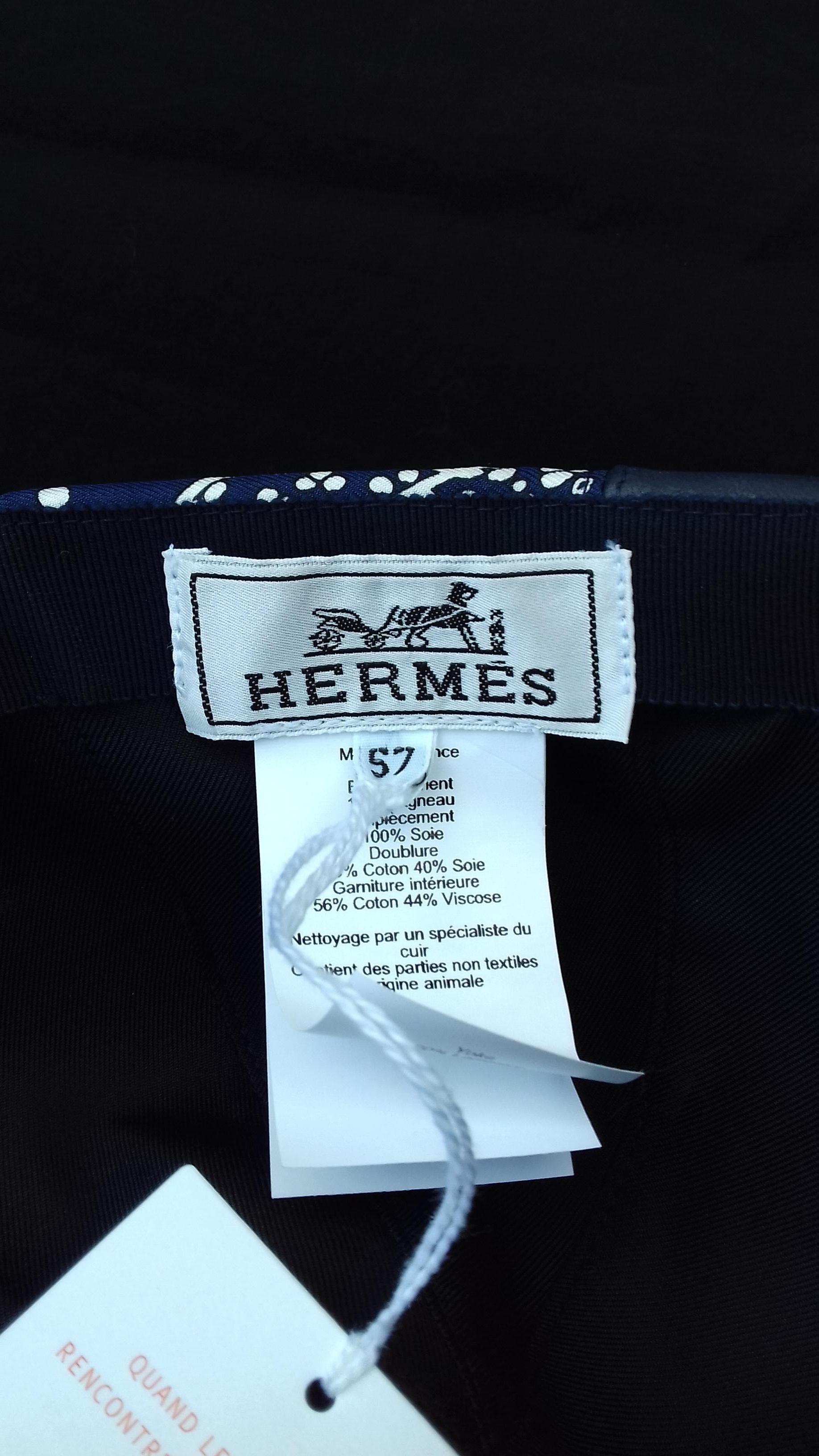 Nettoyage Armoire En Bois hermès cap hat thelma les leopards bandana leather silk navy blue 55