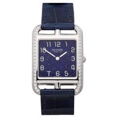 Hermes Cape Cod CC3.730 Ladies Stainless Steel Lapis Lazuli Dial Watch
