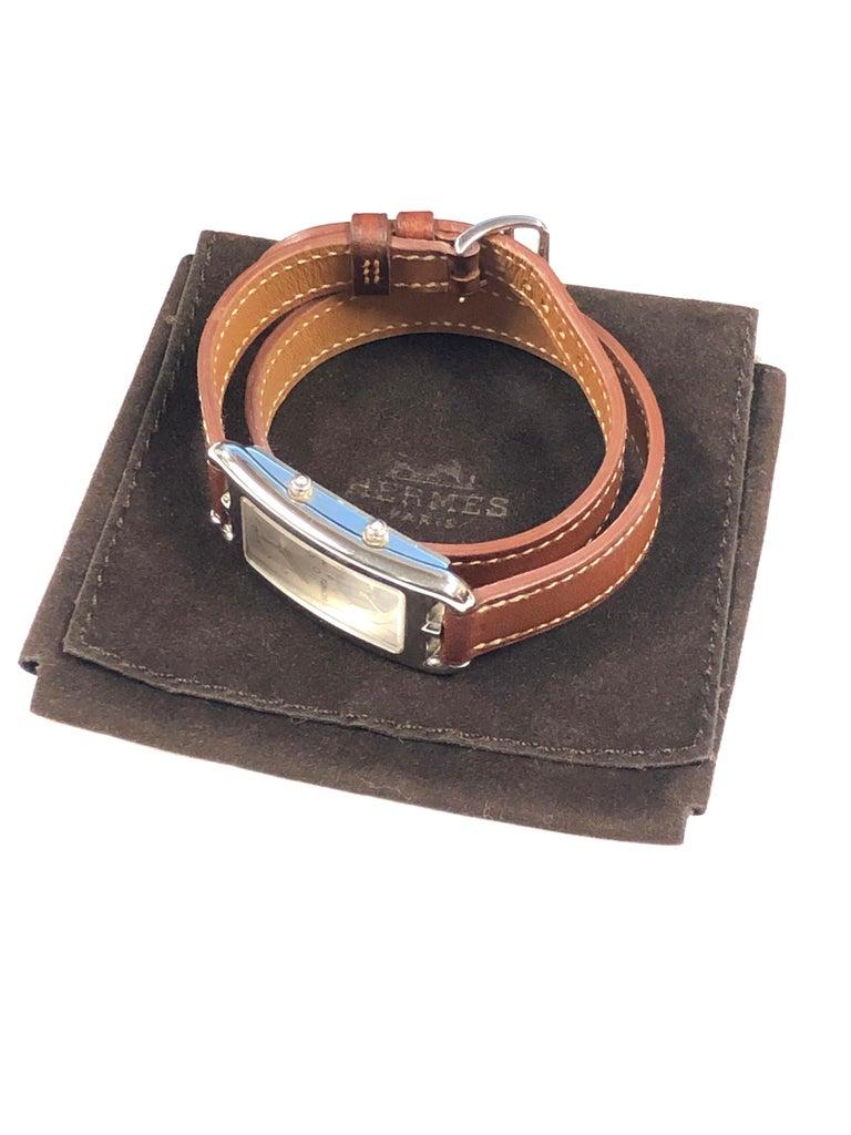 Hermès Cape Cod Dual Time Zone Steel Quartz Wristwatch For Sale 1