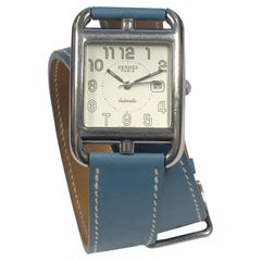Hermes Cape Cod Large Steel Automatic Wrist Watch