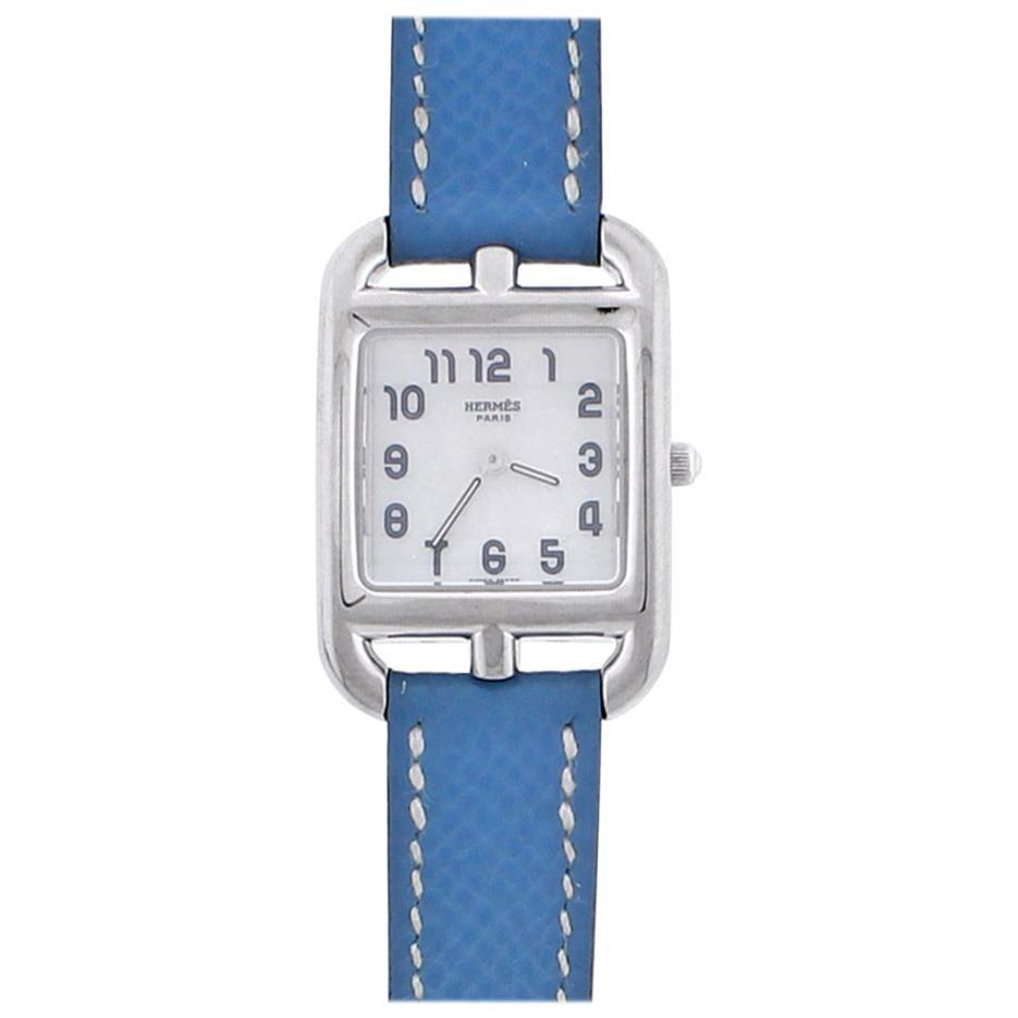 Hermes Cape Cod Quartz White Gold Ladies Watch
