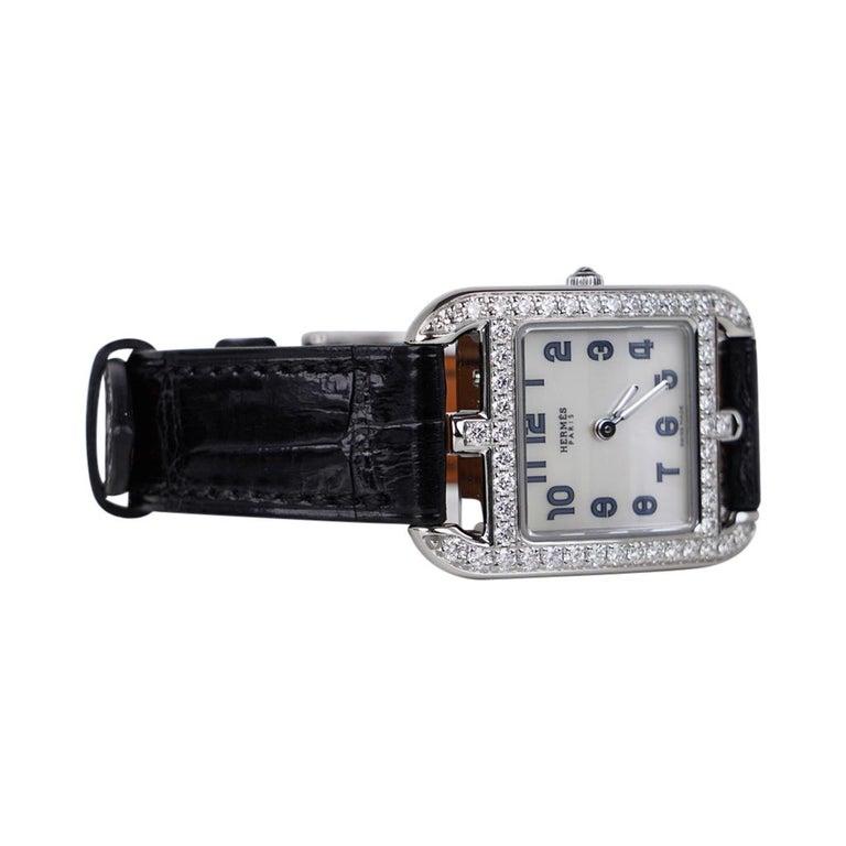 Brilliant Cut Hermes Cape Cod Timepiece Diamond Watch New w/Box For Sale